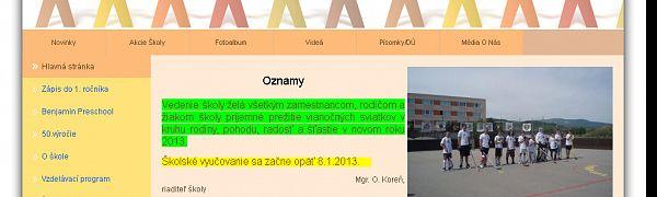 Základná škola Orešie Pezinok